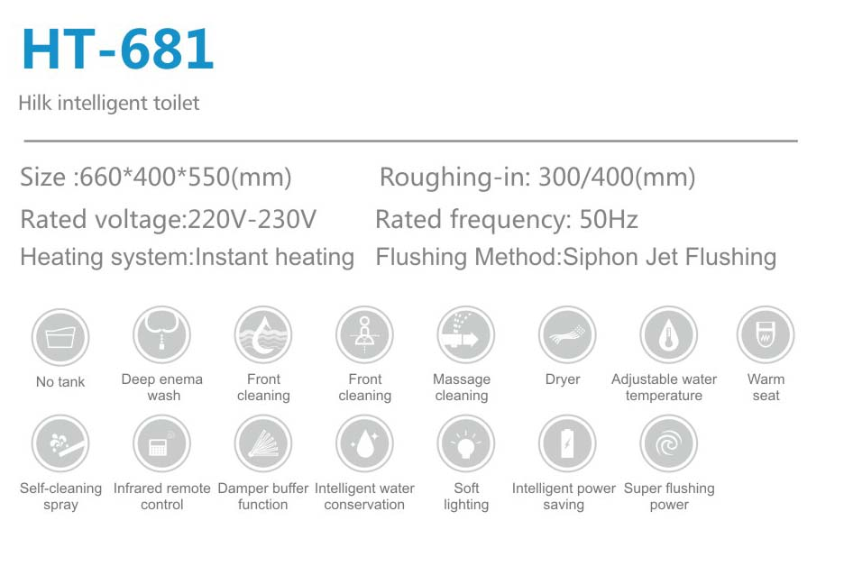 Intelligent commode closestool  Smart lavatory nightstool