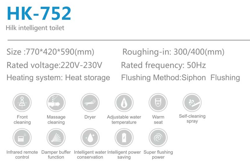 Firm Quality Water Saving Design Smart Toilet