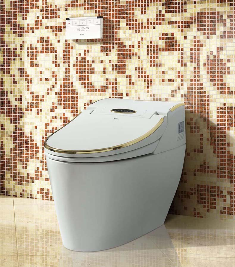 HK768 Golden luxurious stable performance multifunction intelligent smart toilet  electronic Bidet